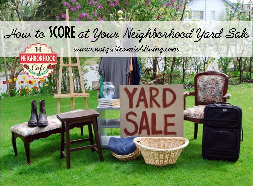 How to Score at Your Neighborhood Yard Sale