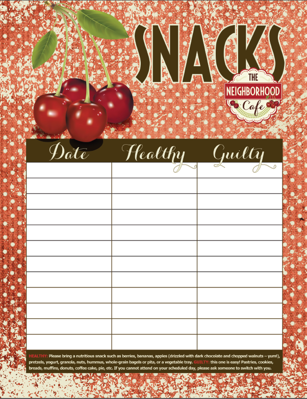 Snack List