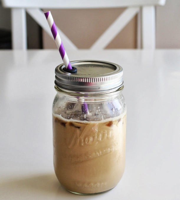 Mason Jar Makeover and Iced Coffee