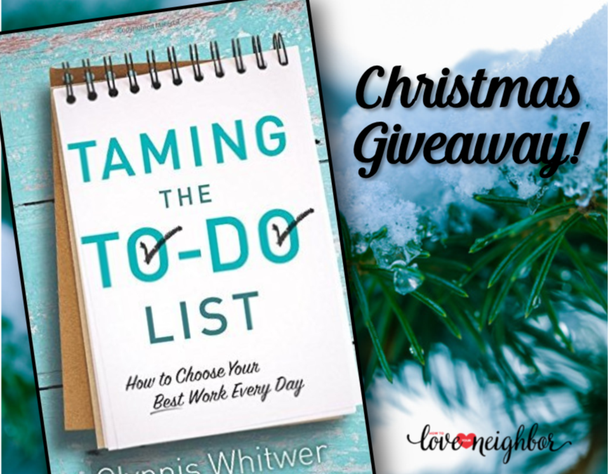 Giveaway: Taming the To-Do List by Glynnis Whitwer
