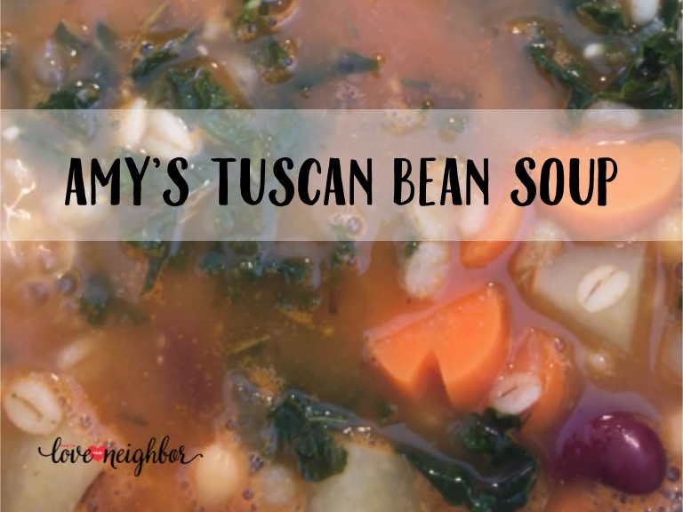 Amy's Tuscan Bean Soup